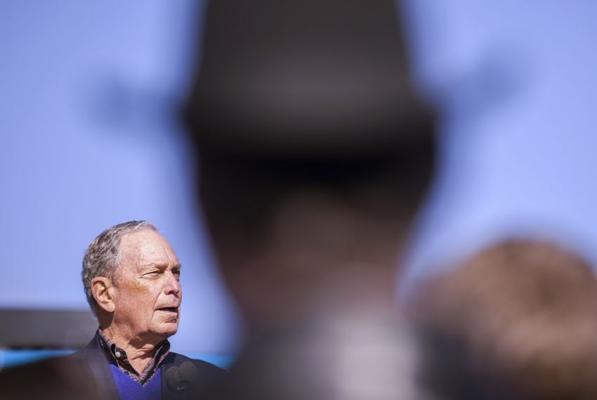Former New York City Mayor Michael Bloomberg is concentrating his efforts on Texas and the other 13 Super Tuesday states.