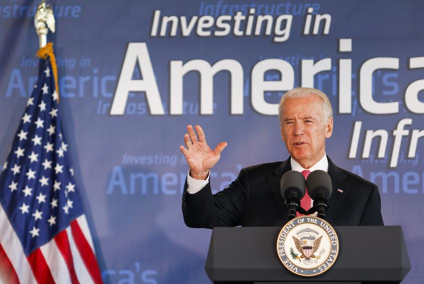 Vice President Joe Biden speaks Wednesday, Nov. 18, 2015, in Houston.
