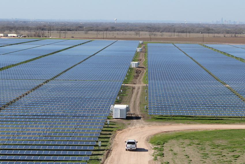 The 380 acre Webberville Solar Farm outside of Austin will power 5000 homes.