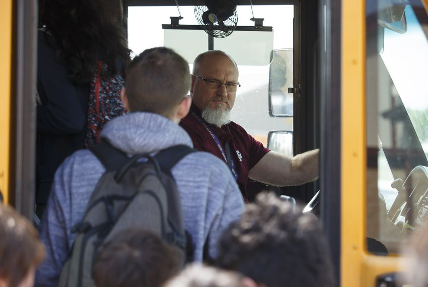Buffalo ISD Superintendent Lacy Freeman drives a school bus because he can't find enough qualified drivers in Buffalo.