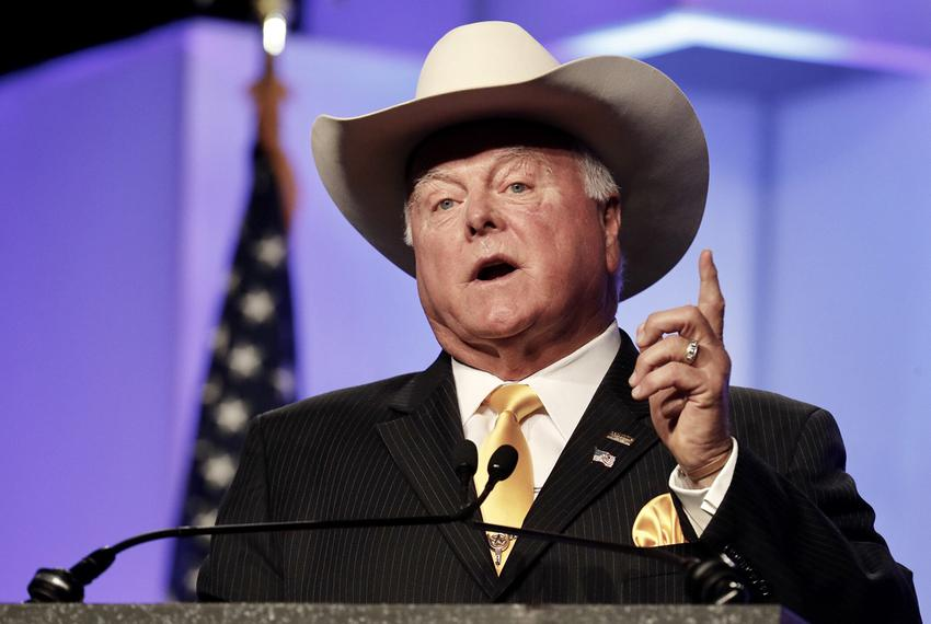 Agriculture Commissioner Sid Miller speaks at the Republican Party of Texas convention on Saturday, June 16, 2016.