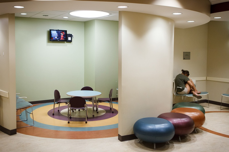 A woman reflects quietly in the waiting room at Planned Parenthood of Gulf Coast's ambulatory surgical center in Houston Friday, August 2, 2013.