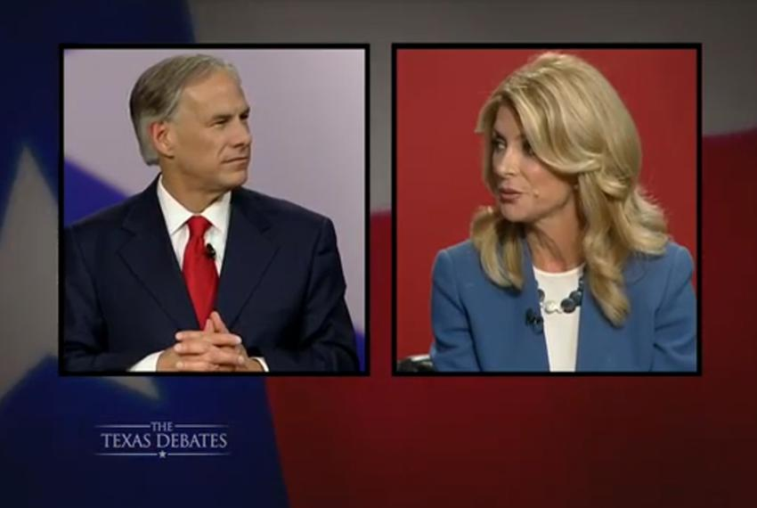 The second and final gubernatorial debate between Republican Attorney General Greg Abbott and state Sen. Wendy Davis, D-Fo...