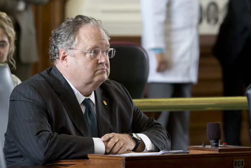 State Sen. Craig Estes, R-Wichita Falls, sits at his desk on March 16, 2015.