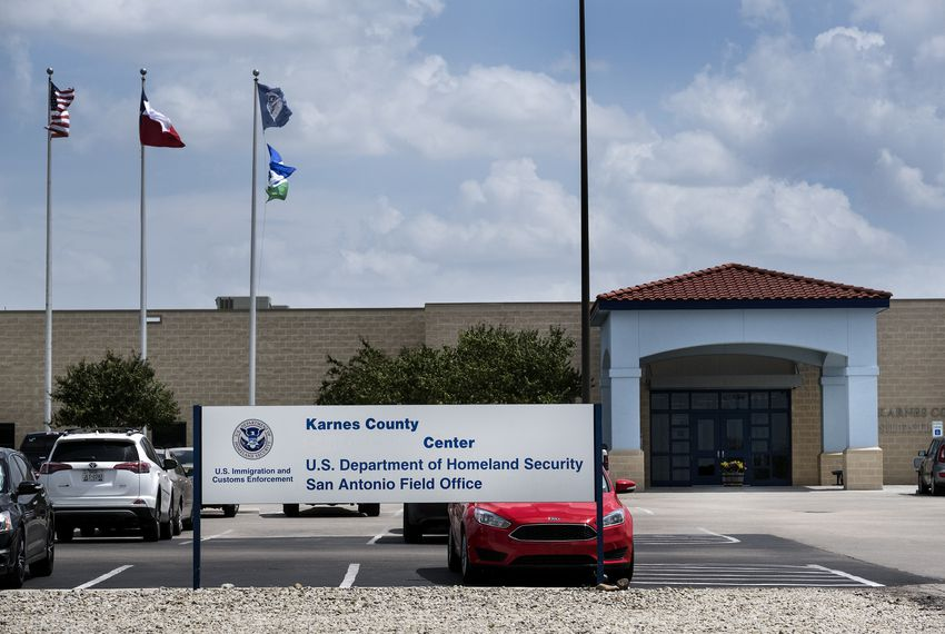 The Karnes County Residential Center is a detention center for immigrant women and their children in Karnes City, Texas. The facility is run by The GEO Group Inc.
