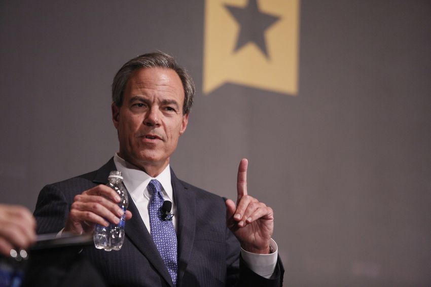 Texas House Speaker Joe Straus was interviewed by Texas Tribune CEO and Editor-in-Chief Evan Smith at The Texas Tribune Festival on Oct. 17, 2015.
