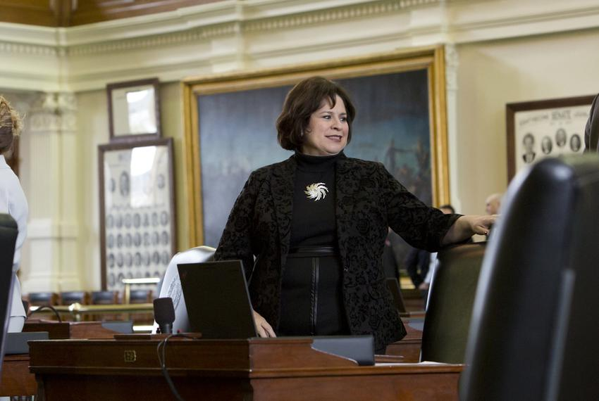 Sen. Leticia Van de Putte on February 24th, 2015, her last day as Texas Senator