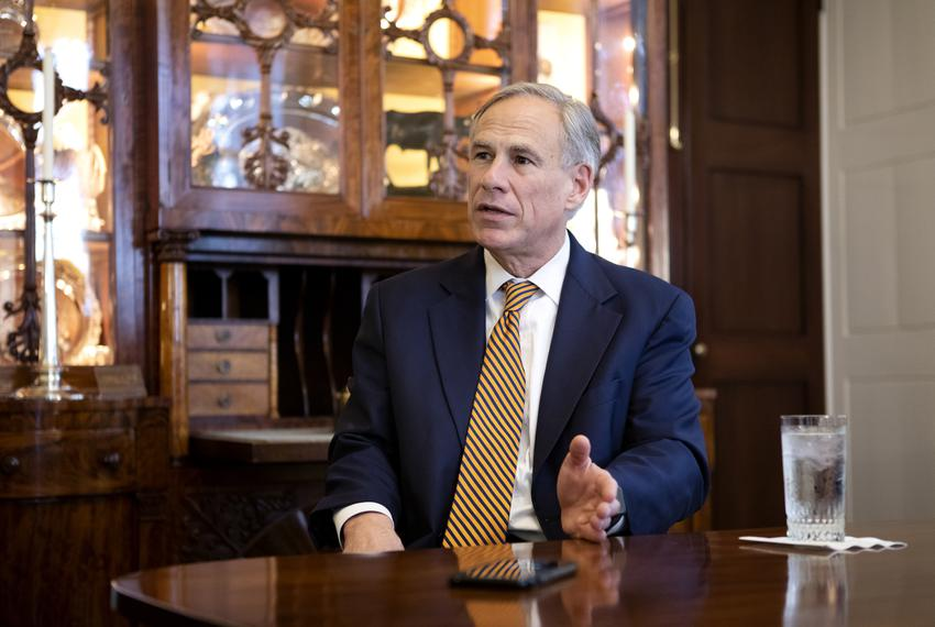 Governor Greg Abbott in the Governor's mansion. Jan. 8, 2019.