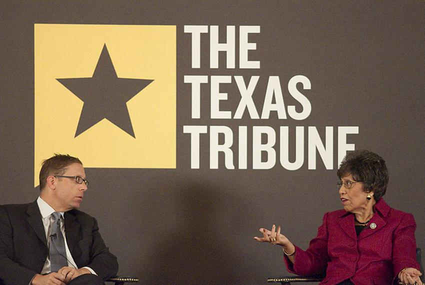 Linda Chavez-Thompson speaks with Texas Tribune CEO Evan Smith about her run for the office of Lieutenant Governor during a …