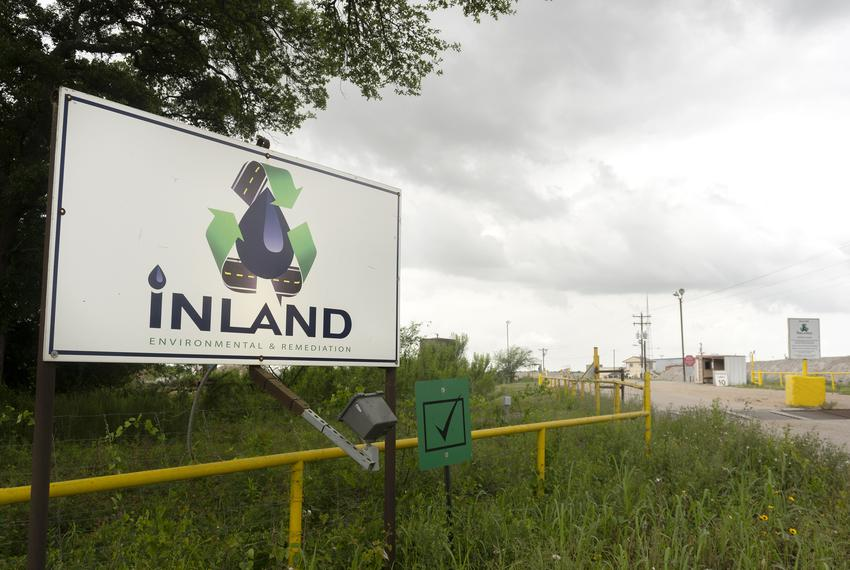 Inland Environmental & Remediation Inc. is located on Skull Creek, near Columbus, Texas. April 15, 2019.