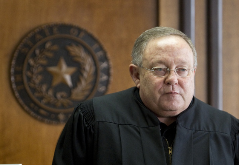 District Court Judge John Dietz of Austin is shown in his courtroom on Feb. 4, 2013, before he ruled that the state's school finance system was unconstitutional.