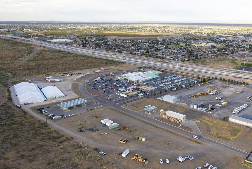 The new tent city at the Customs and Border Protection station in Northeast El Paso on Monday, April 29, 2019.