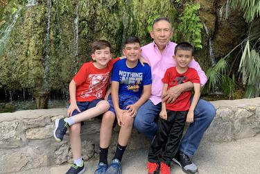 Alvarado with his grandsons and great grandson, Justus, Judah and Jake, whom he called Justy, Judah-boy and Jacah-boy.