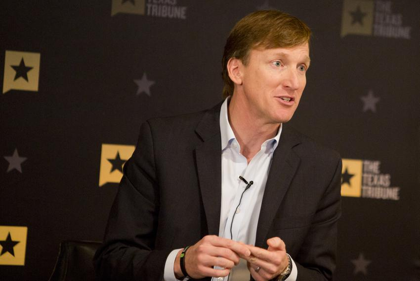 Andrew White, Democratic candidate for governor, speaks at a Texas Tribune event on Jan. 11, 2018.