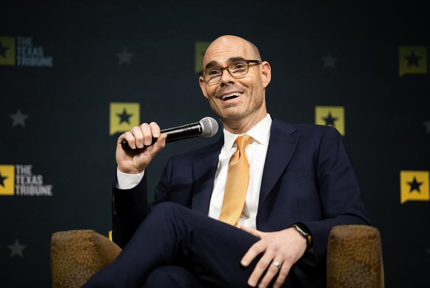 Newly-elected state House Speaker Dennis Bonnen speaks with Texas Tribune CEO Evan Smith at a Tribune event at Brazosport Co…