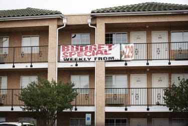 Places like Fort Worth's Budget Suites of America are a good option for people who have been evicted or don't have the money for a hefty deposit.