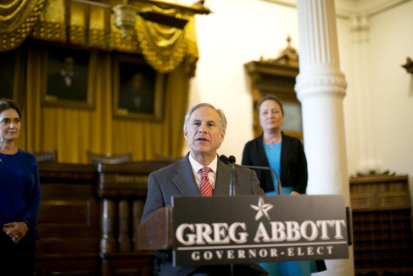 During a news conference on Nov. 11, 2014, Gov.-elect Greg Abbott announced that he's appointing Cameron County Judge Carlos…