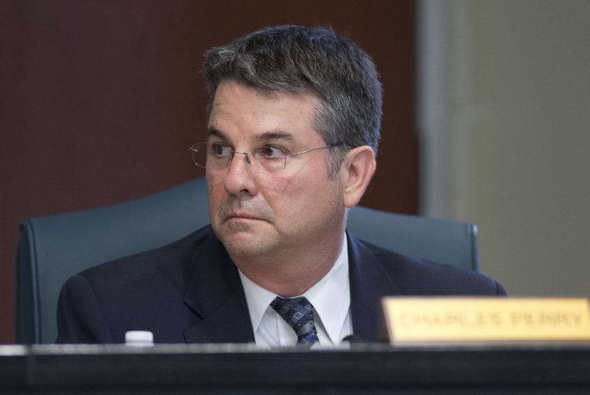 Charles Perry, R-Lubbock, then a state representative, at a committee hearing on May 12, 2014.
