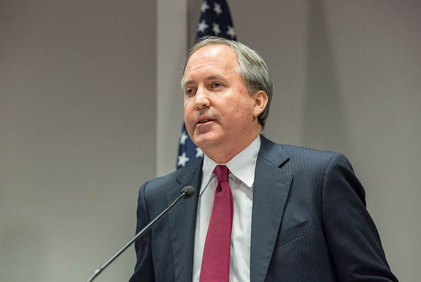 Texas Attorney General Ken Paxton at a press conference in Austin on Jan. 13, 2016 to announce a new unit within the Texas Attorney General's Office dedicated to combating human trafficking.