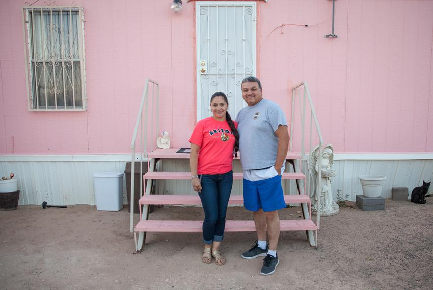 Cristina Morales and her husband, Rafael Martinez, said they don't plan on moving from Horizon View Estates, a colonia in ...