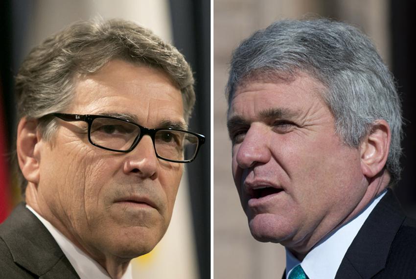 Former Gov. Rick Perry and U.S. Rep. Michael McCaul, R-Austin.