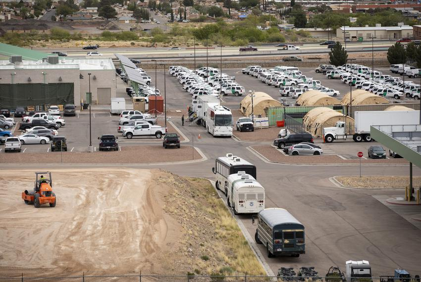 Land being cleared outside the Border Patrol station headquarters in El Paso on Wednesday, April 17, 2019.