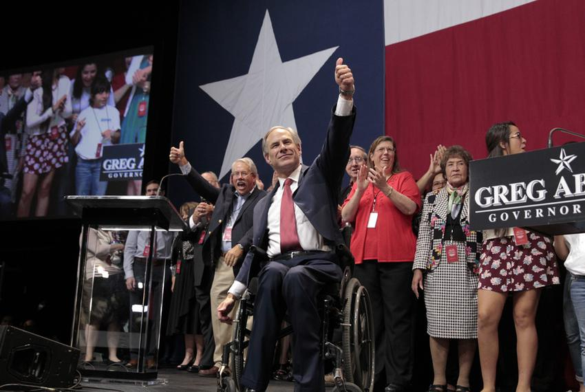 Greg Abbott celebrates his victory over Wendy Davis on Nov. 4, 2014.