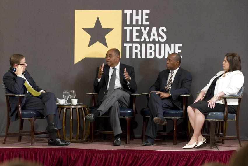 Texas Democratic legislators (l to r) State Sen. Rodney Ellis, D-Houston, State Rep. Sylvester Turner, D-Houston, and State …