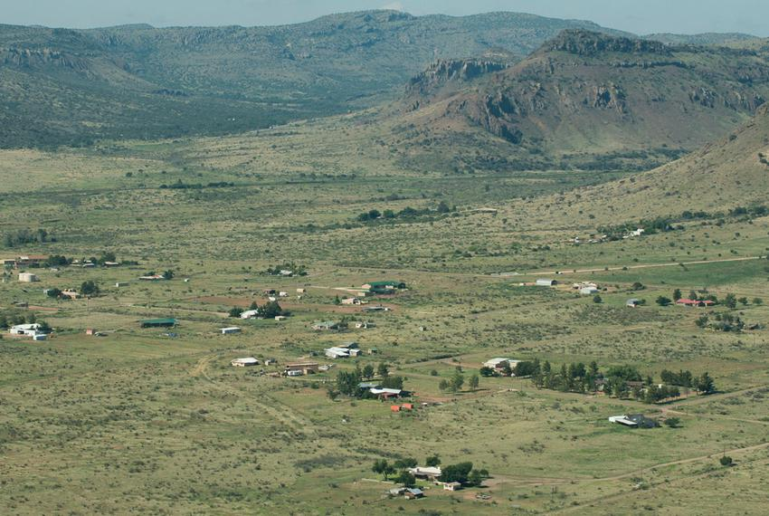 An aerial photograph of the Big Bend region near Alpine, where the proposed pipeline will run, stirring concerns among lando…