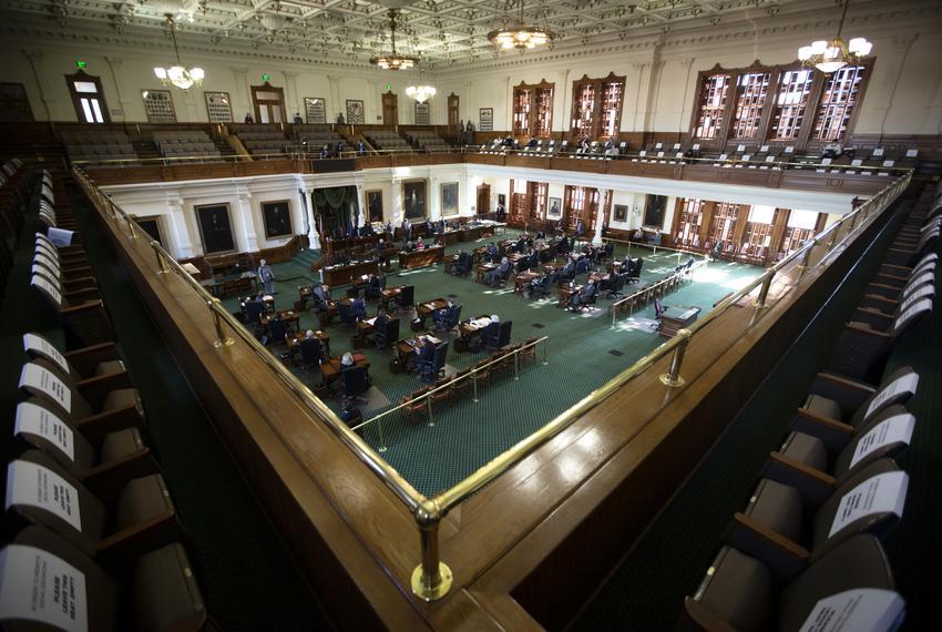 The Senate floor on Jan. 13, 2021.