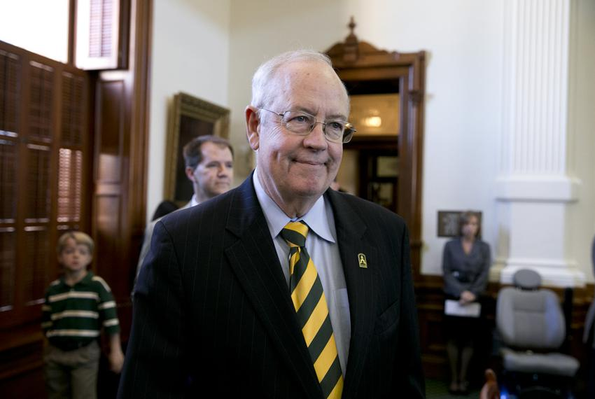 Baylor President Ken Starr is honored on the floor of the Texas Senate March 12, 2013 on Baylor Day.