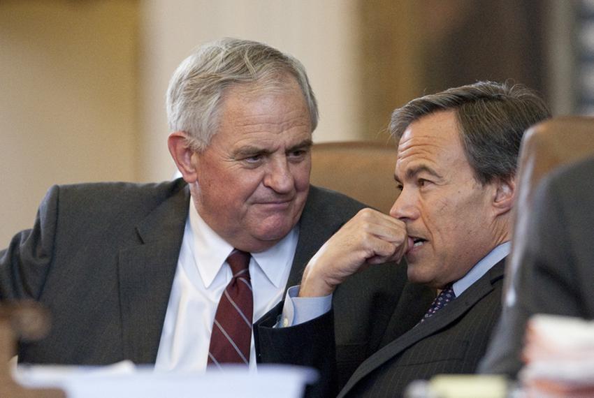 Rep. Jimmie Don Aycock, R-Killeen, with Speaker Joe Straus R-San Antonio on May 20th, 2011