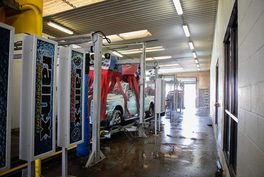 A truck is washed at All American Super Car Wash in Wichita Falls. Business owner Larry Ayers almost had to shut down in 2...