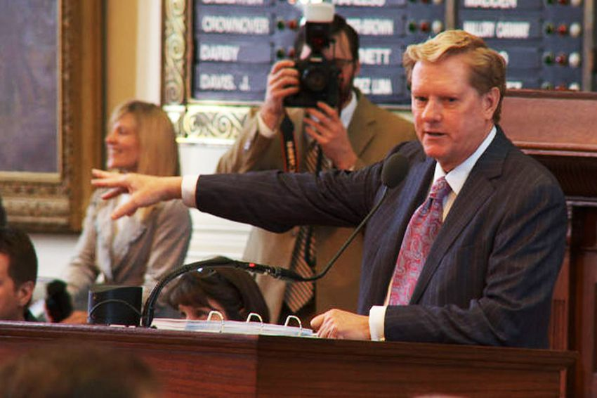 State Rep. Jim Pitts, R-Waxahachie, lays out House Bill 1.