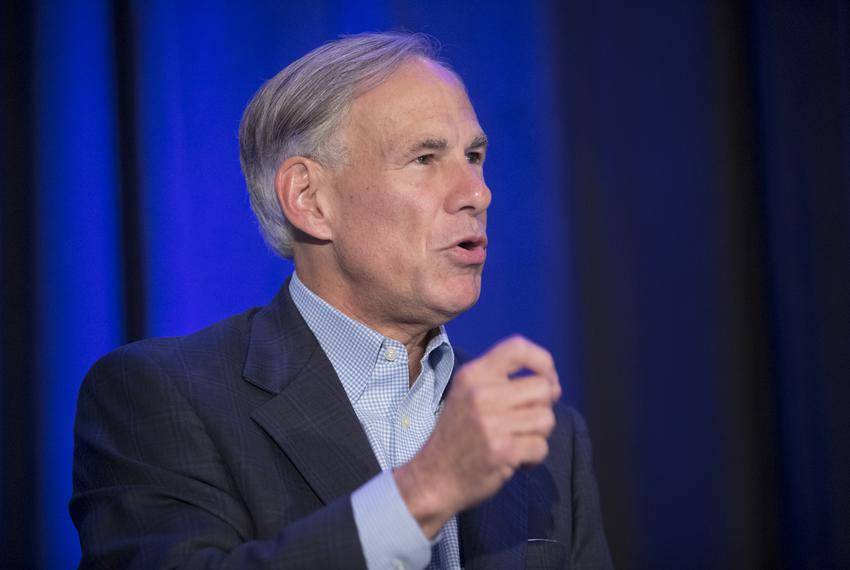 Gov. Greg Abbott, speaks at the Resurgent Gathering of conservative party activists