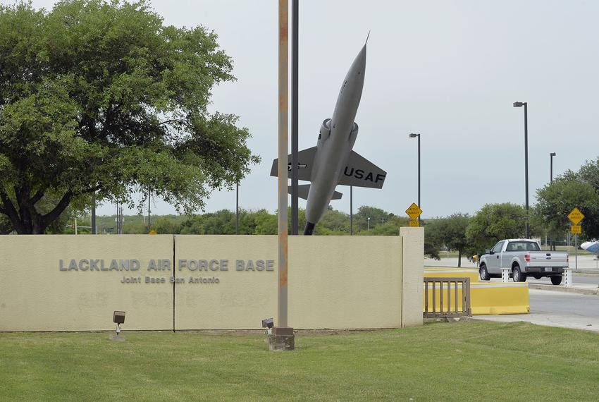 The Annex Gate at Lackland Air Force Base in San Antonio.
