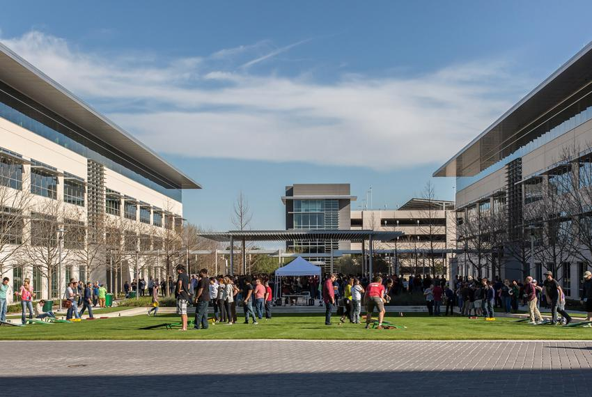Apple's existing campus in Austin. The tech giant announced a $1 billion expansion Thursday.