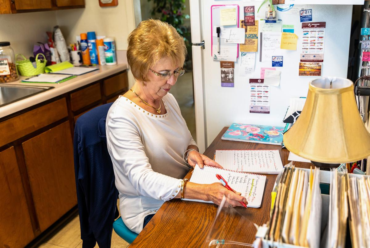 Judy Guinn, office manager at the Midway Family Planning clinic in Brownwood, TX.