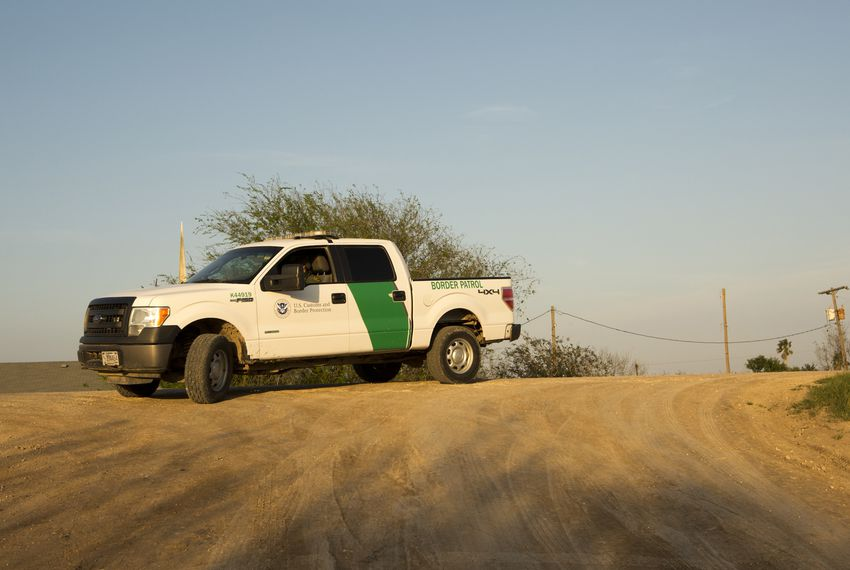 A U.S. Border Patrol vehicle in the Rio Grande Valley.