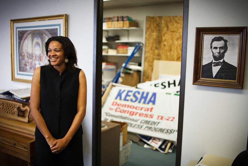 Kesha Rogers,  a LaRouche candidate running in the Democratic primary for U.S. Congress District 22 once held by Tom Delay, …