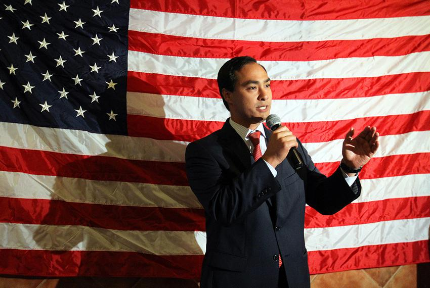 U.S. Rep. Joaquin Castro, D-San Antonio, at a victory party for congressional candidate Pete Gallego at Don Pedro Mexican Re…