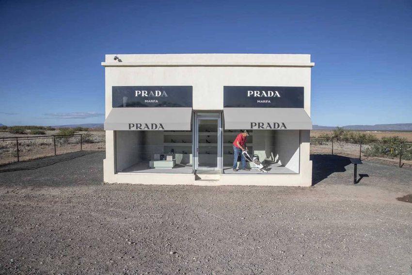 Brian Lehmann/Circle of Blue. Outside Marfa, Texas, a fake Prada store embodies the town's critique of pop art and consumeri…