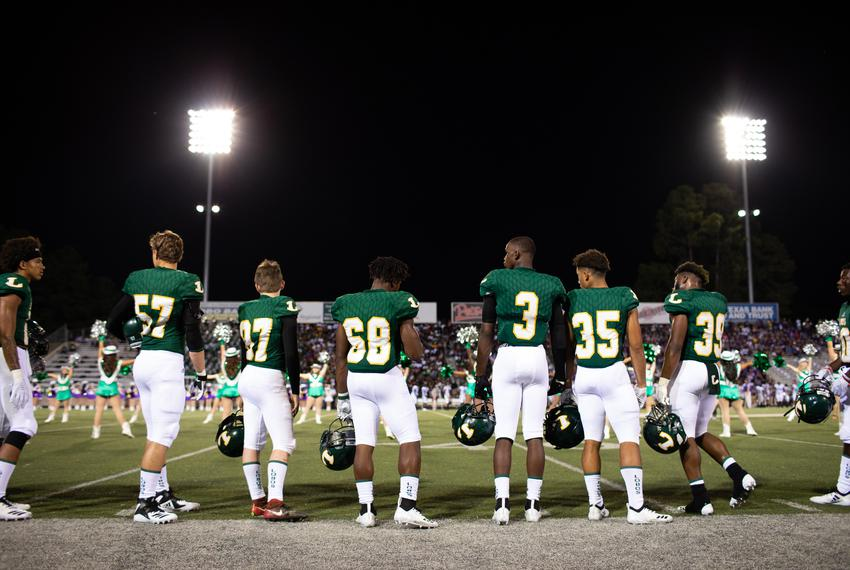 Longview beats rival Lufkin 35-28 for the season opener at Longview High School, August 31, 2018. Earlier this year the 19...