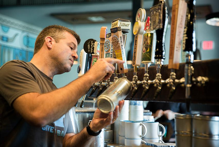 "Mike McKim is on the front lines of state alcohol regulators' attempts to ban ""crowlers,"" or tap beer sold at bars in cans. …"