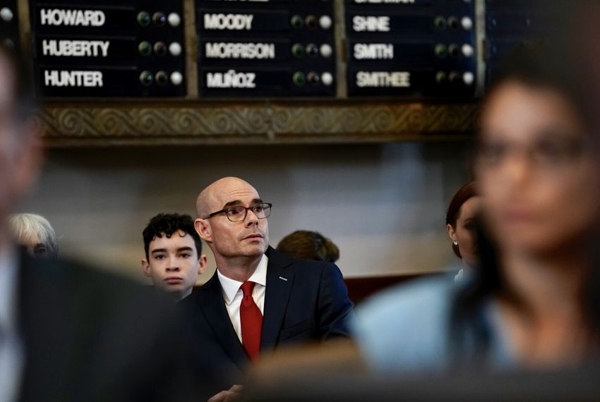 State Rep. and presumptive House Speaker Dennis Bonnen in the House Chamber on Tuesday, Jan. 8, 2019.