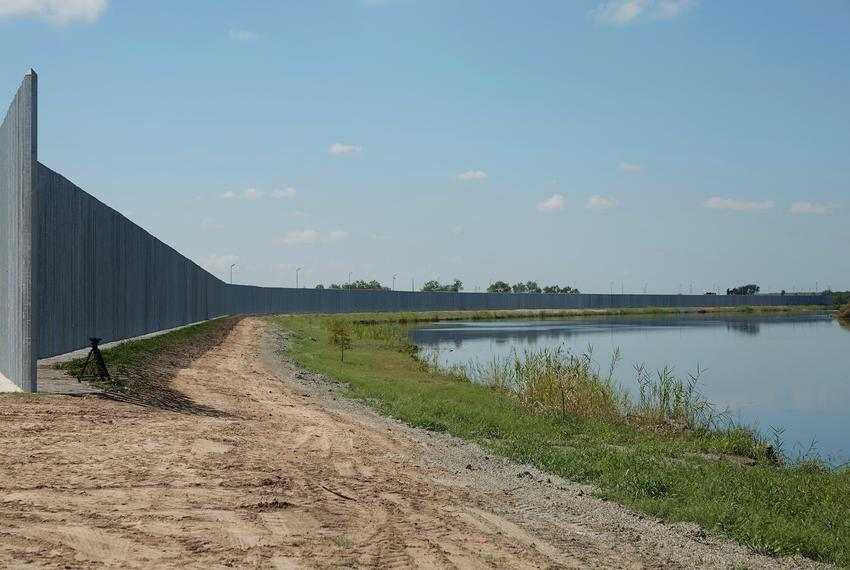 The private border wall in South Texas on Aug. 3, 2020.