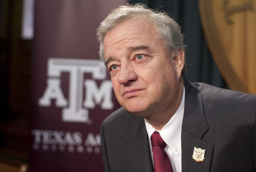 Texas A&M University System John Sharp at a Capitol press conference on Jan. 23, 2013.