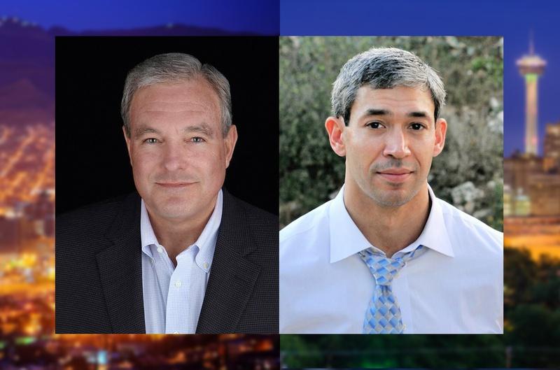 El Paso Mayor-elect Dee Margo (L) and San Antonio Mayor-elect Ron Nirenberg
