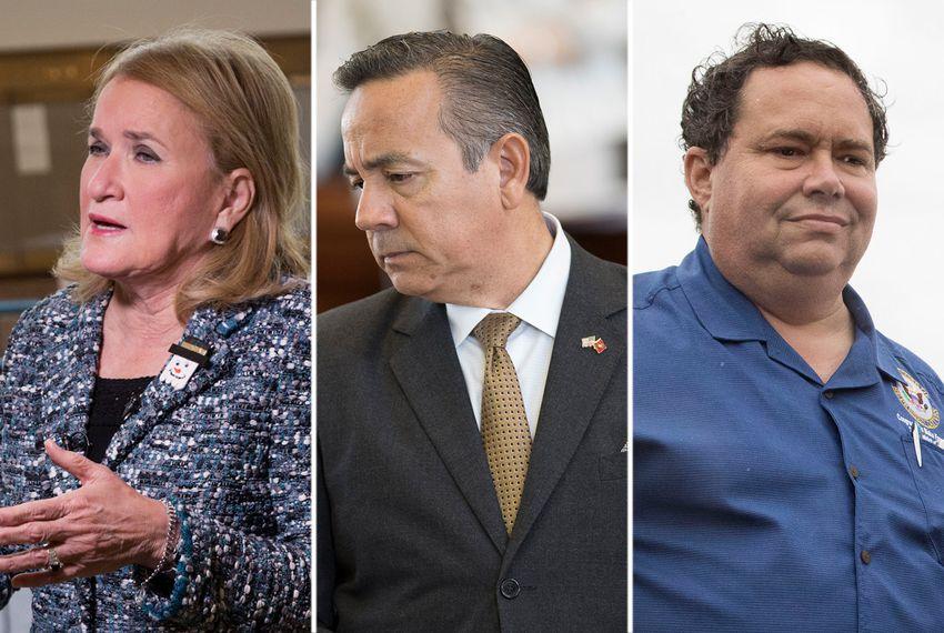 State Sens. Sylvia Garcia, D-Houston; Carlos Uresti, D-San Antonio; and former U.S. Rep. Blake Farenthold, R-Corpus Christi.