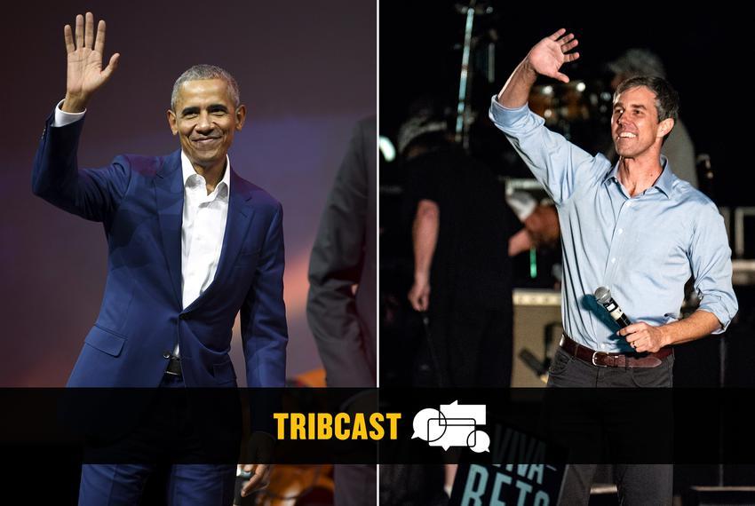 Former U.S. President Barack Obama and U.S. Rep. Beto O'Rourke, D-El Paso.